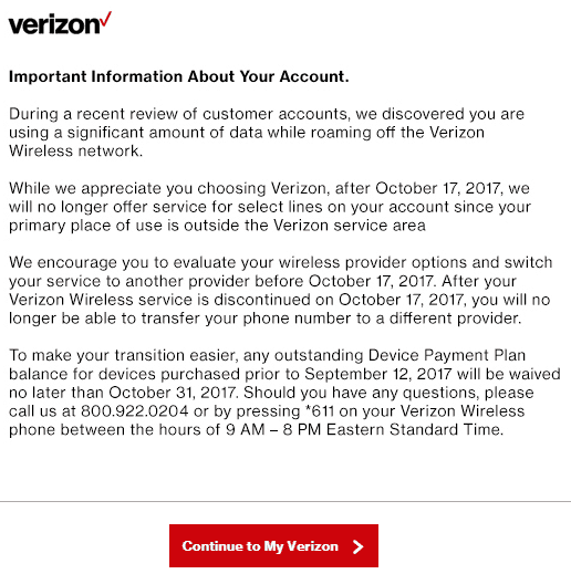 Stop The Cap Verizon Wireless Pushes Customer To Upgrade