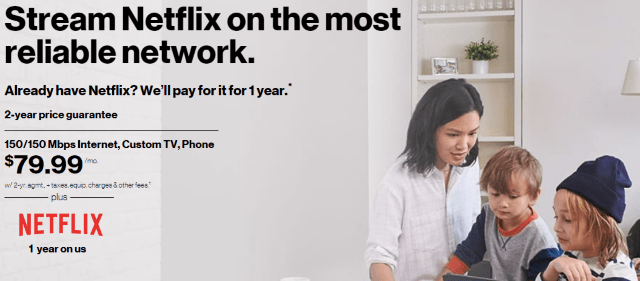 New Verizon FiOS Triple Play Customers Get Free Netflix for a Year ·