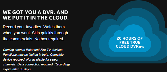 DirecTV Now Launches Free 20-Hour Storage DVR Service to