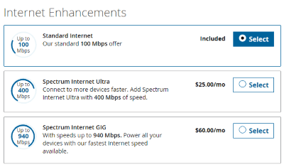 spectrum internet offers