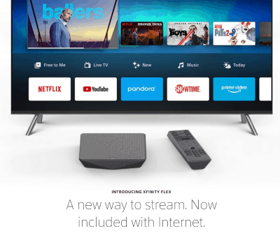 Stop The Cap Comcast Internet Only Customers Can Now Get Xfinity Flex Streaming Box For Free