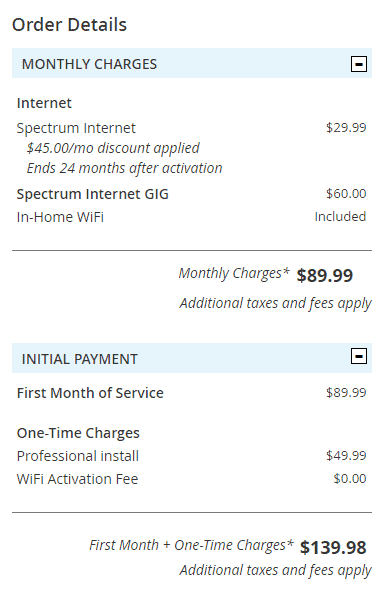 Spectrum Lowers the Gigabit Service Installation Fee… for Some